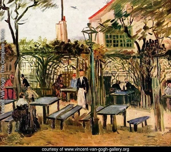 Vincent van gogh the complete works garden restaurant for Restaurant miroir montmartre