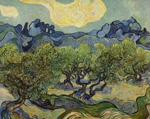 Vincent Van Gogh - Landscape with olive trees