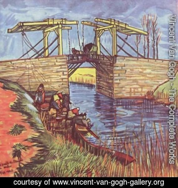 Vincent Van Gogh - The English Bridge (Le Pont de l'Anglois) 2