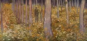 Vincent Van Gogh - Couple walking in forest