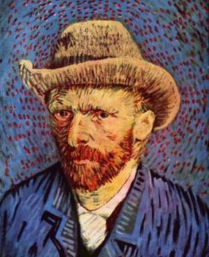 Vincent Van Gogh - Self Portrait with Grey Felt Hat 2