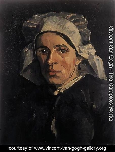 Vincent Van Gogh - Head of a Peasant Woman with White Cap 2