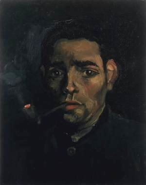 Vincent Van Gogh - Head of a Young Peasant with Pipe