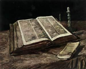 Vincent Van Gogh - Still-Life with Open Bible