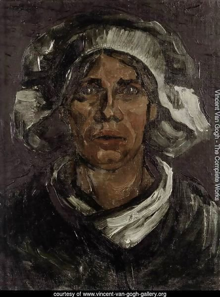 Head of a Peasant Woman with White Cap 3