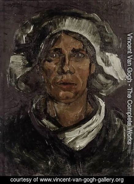 Vincent Van Gogh - Head of a Peasant Woman with White Cap 3