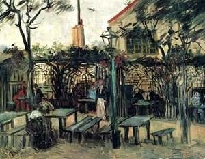 Terrace of a Cafe on Montmartre (La Guinguette) in Montmartre