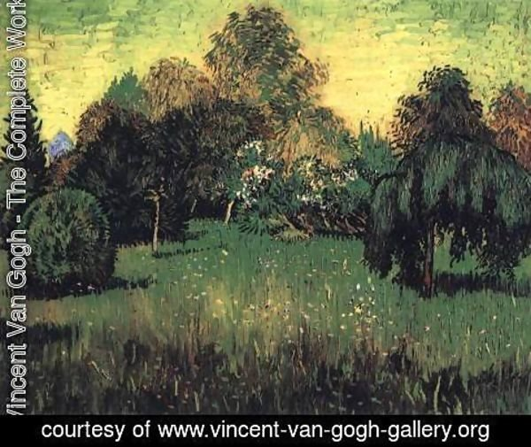 Vincent Van Gogh - Public Park with Weeping Willow The Poet's Garden I