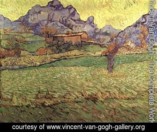 Vincent Van Gogh - A Meadow in the Mountains Le Mas de Saint-Paul
