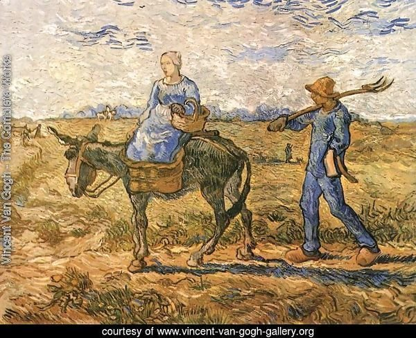 Morning Peasant Couple Going to Work (after Millet)