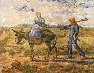 Vincent Van Gogh - Morning Peasant Couple Going to Work (after Millet)