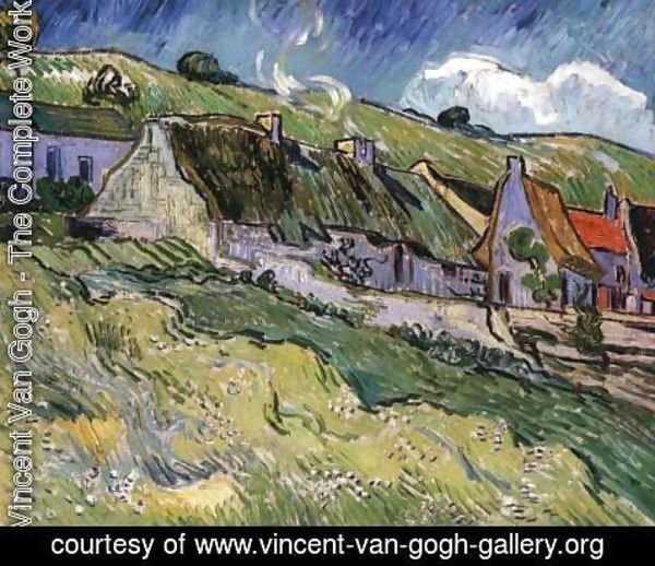 Vincent Van Gogh - Old Farmhouses in Auvers