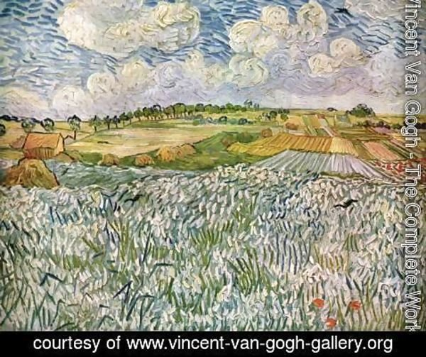 Vincent Van Gogh - Landscape near Auvers Wheatfields