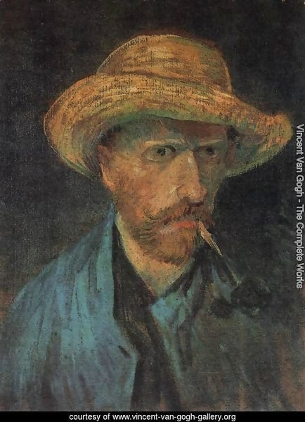 Self-Portrait with Straw Hat and Pipe 3