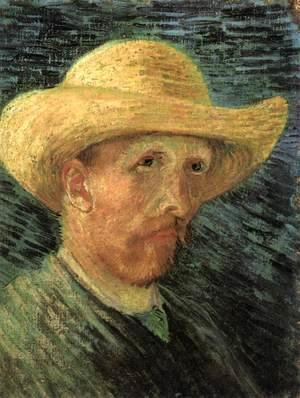 Vincent Van Gogh - Self-Portrait with Straw Hat 2