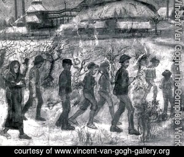 Vincent Van Gogh - Miners in the Snow