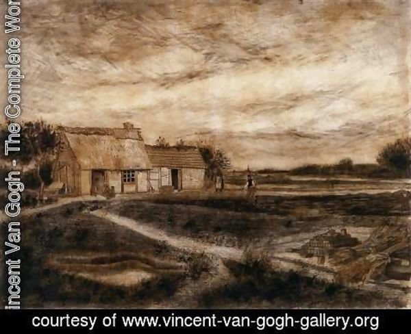 Vincent Van Gogh - A Cottage on the Heath and The Protestant Barn