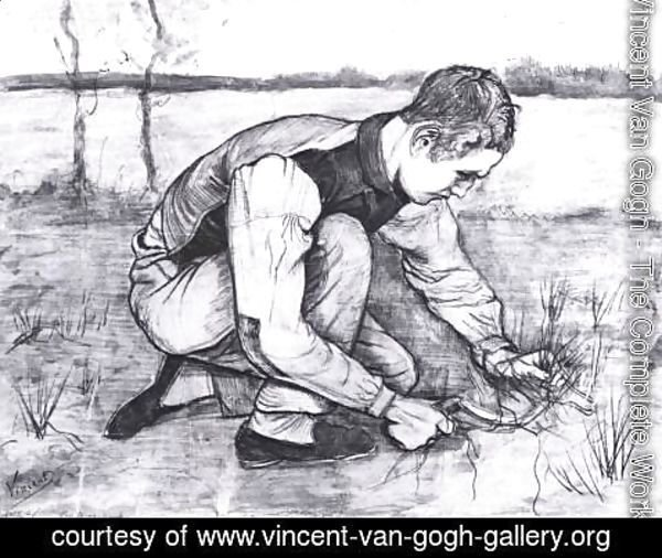 Vincent Van Gogh - Young Peasant with a Sickle