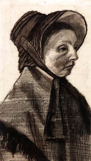 Bust of a Woman with Hat Facing Right