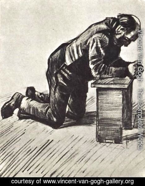 Vincent Van Gogh - Man Praying