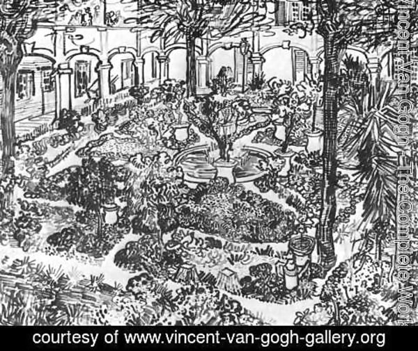 Vincent Van Gogh - The Courtyard of the Hospital at Arles 2