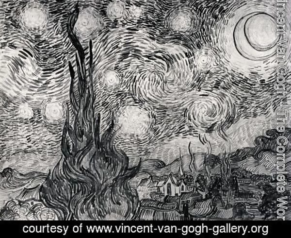 Vincent Van Gogh - Starry Night 2