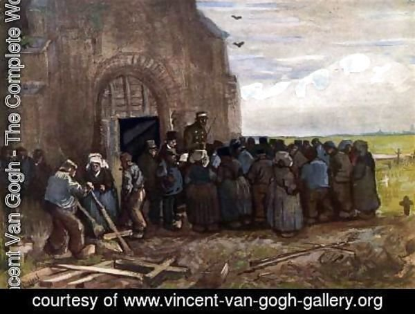 Vincent Van Gogh - The Sale of Crosses at the Nuenen Cemetery