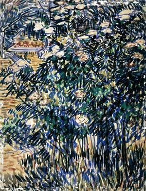 Vincent Van Gogh - Flowering Bushes in the Asylum Garden