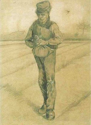 Vincent Van Gogh - Sower with Hand in Sack