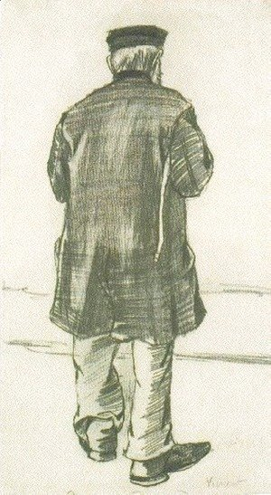 Orphan Man with Cap, Seen from the Back