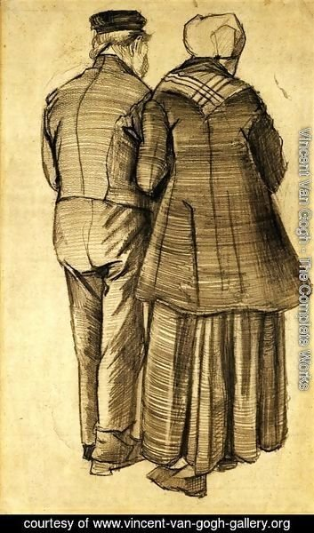 Vincent Van Gogh - Man and Woman Seen from the Back