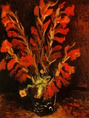Vincent Van Gogh - Vase with Red Gladioli 2