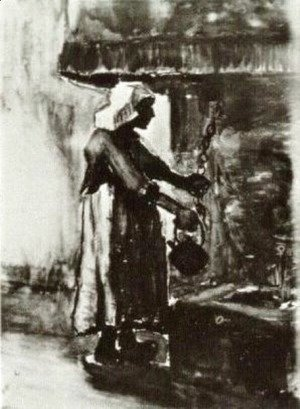 Vincent Van Gogh - Woman with Kettle by the Fireplace