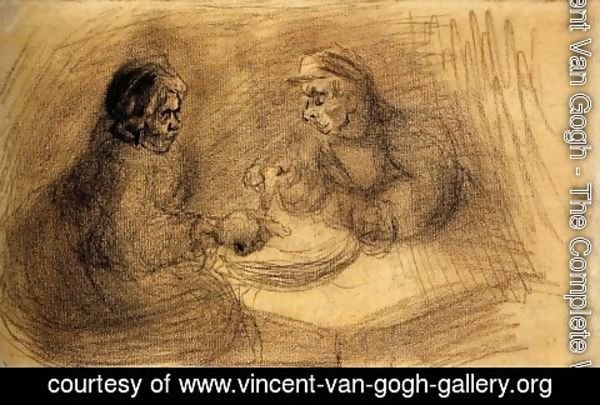 Vincent Van Gogh - Man and Woman Sharing a Meal