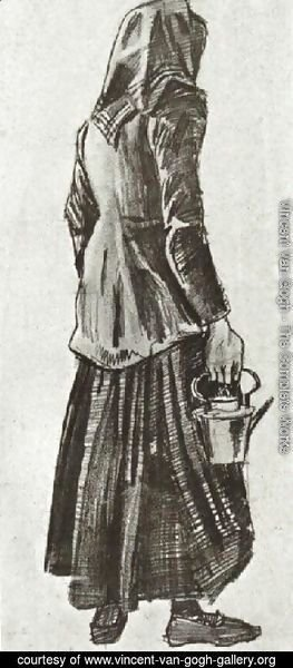 Woman with Kettle, Seen from the Back