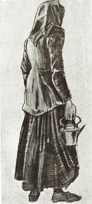 Vincent Van Gogh - Woman with Kettle, Seen from the Back