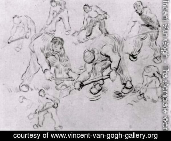 Vincent Van Gogh - Sheet with Sketches of Diggers and Other Figures