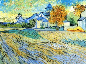 Vincent Van Gogh - View of the Church of Saint-Paul-de-Mausole