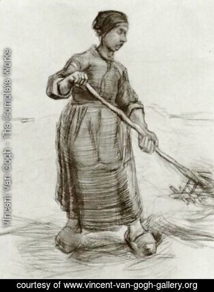 Vincent Van Gogh - Peasant Woman, Pitching Wheat or Hay