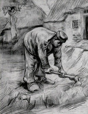 Vincent Van Gogh - Peasant, Chopping