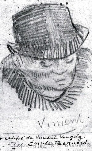 Vincent Van Gogh - Head of a Man with Hat