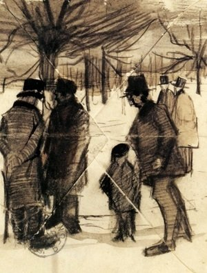 Vincent Van Gogh - Five Men and a Child in the Snow