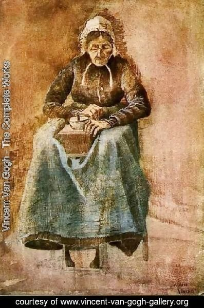Vincent Van Gogh - Woman Grinding Coffee