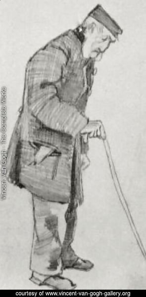 Orphan Man with Cap and Walking Stick