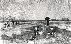 Vincent Van Gogh - Churchyard in the Rain