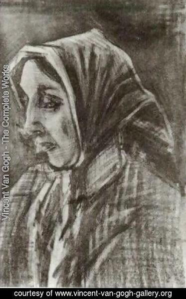 Vincent Van Gogh - Woman with Shawl over her Hair, Head