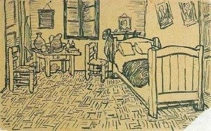 Vincent Van Gogh - Vincent's Bedroom in Arles 2
