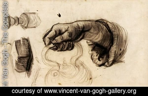 Vincent Van Gogh - Hand with a Pot, the Knob of a Chair and a Hunk of Bread