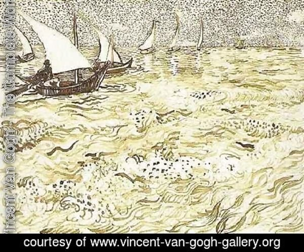 Vincent Van Gogh - A Fishing Boat at Sea