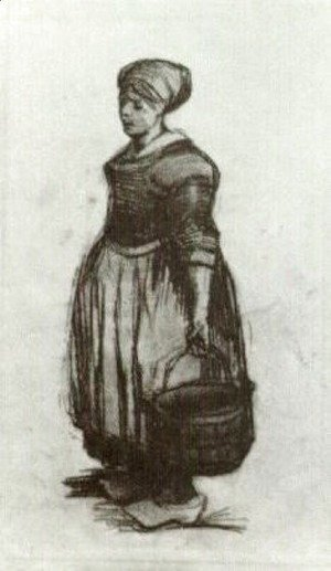 Vincent Van Gogh - Peasant Woman with a Bucket